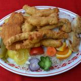 Selected Fried Fish with Garnish