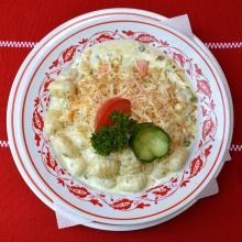 Tejszínes Gnoochi füsttölt sajttal és zöldségekkel