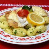 Grilled Fillets of Gray Catfish with Sour Cream Sauce